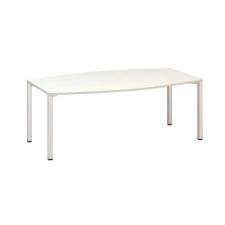 Alfa Office Alfa 420 konferenciaasztal fehér lábazattal, 200 x 110 x 74,2 cm, fehér mintázat% irodabútor