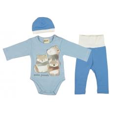 Állatmintás 3 részes baba szett (méret: 56-74)