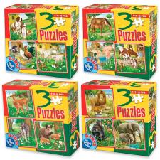 Állatos 3 az 1-ben puzzle - többféle puzzle, kirakós