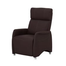 Állítható TV fotel, textilbőr barna, FOREST bútor