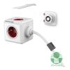 Allocacoc PowerCube Extended 3m piros/fehér 5-ös elosztó (1307/DEEXPC)