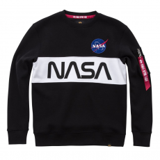 Alpha Indsutries NASA Inlay Sweater - fekete