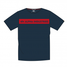 Alpha Indsutries Red Stripe T - navy