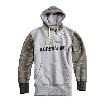 Alpha Industries Adrenaline Hoody - szürke kapucnis pulóver - Férfi pulóver 76ef9476f9