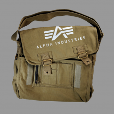 Alpha Industries Big A Canvas Courier Bag - olive táska