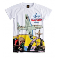 Alpha Industries Cockpit Kids T - fehér