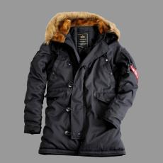 Alpha Industries Explorer női felvarró nélkül - fekete kabát