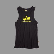 Alpha Industries Logo Tank - fekete/sárga