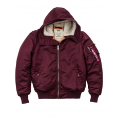 Alpha Industries MA-1 Hooded - burgundy