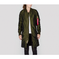 Alpha Industries MA-1 LW COAT IRIDIUM NŐI - dark green