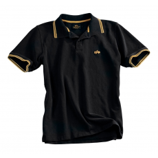 Alpha Industries Twin Stripe Polo II - fekete/sárga