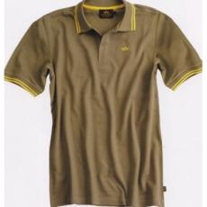 Alpha Industries Twin Stripe Polo - olive/sárga