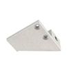Alu profil eloxált (I10) végzáró, 10mm, ezüst (bal) vastag