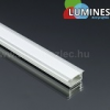 Alu profil eloxált (Type-G) LED szalaghoz, opál bura, PVC