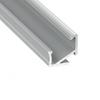 Alu profil eloxált (Type-H) LED szalaghoz, átlátszó bura, PVC