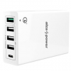 AlzaPower M5CQ Multi töltés QC3.0 Fehér