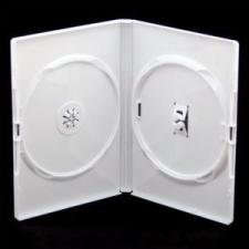 Amaray DVD tok 14mm dupla fehér asztali számítógép kellék