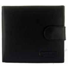 American Pride Fekete bőr férfi pénztárca külső kapoccsal