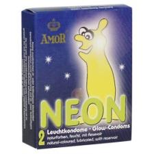 Amor - sötétben világító kondom (2db) óvszer
