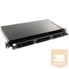"AMP 19"" optikai panel, üres, 3db ""Snap-In"" modulhoz (fiókos) fekete, 1U (1348876-4)"