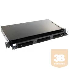 """AMP 19"""" optikai panel, üres, 3db """"Snap-In"""" modulhoz (fiókos) fekete, 1U (1348876-4) egyéb hálózati eszköz"""