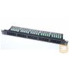 AMP Cat.3 50 portos telefon panel, fekete, 1U (1711214-2)