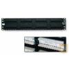AMP Cat.5E UTP 48 portos patchpanel, 2U, fekete (406331-1)