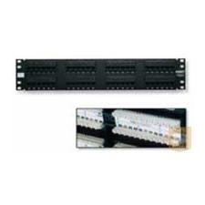 AMP Cat.5E UTP 48 portos patchpanel, 2U, fekete (406331-1) egyéb hálózati eszköz
