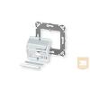 AMP DIN 3 portos előlap - döntött, 50x50, SL hellyel, fehér (2-336613-1)