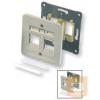 AMP DIN dupla előlap - egyenes, 80x80, SL hellyel, fehér vagy bézs (2-966224-1)