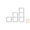 AMP Díszkeret - kettes soroló, 80x80 DIN előlapokhoz, bézs vagy fehér (964361-2)