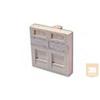 """AMP """"Mosaic"""" előlap - egyenes, porvédős, 45x45, 2db SL hellyel, fehér (1711276-1)"""
