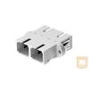 AMP SC toldó - MM duplex, fém betét, bézs (5504640-2)