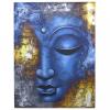 Ancient Buddha Festmény - Kék Fej - Absztrakt