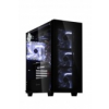 anidees AI-Crystal Midi-Tower, Tempered Glass - Black