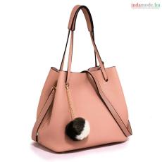 Anna Grace AG00190 - Pink Női táska 'Faux-Bőr' bájos pom-pom