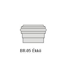 Anro BR-05 Ékkő, pattintós középkonzol - natúr dekoráció