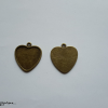 Antik bronz szív medálalap 29x27x2mm 2db - ABSZMA