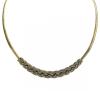 Antikolt arannyal bevont fonott nyaklánc ausztriai kristályokkal + AJÁNDÉK DÍSZDOBOZ (0696.)