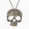 Antikolt koponya medálos nyaklánc jwr-1156