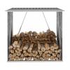 Antracit horganyzott acél kerti tűzifatároló 163 x 83 x 154 cm