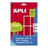 APLI 128 etikett/csomag 25x40 mm kerekített sarkú piros színű kézzel írható etikett