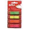 APLI 12x45 mm műanyag 4 fluoreszkáló színű jelölőcímke (4x40 lap)