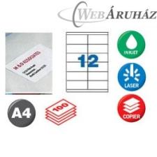 APLI APLI 2 pályás etiket 105x48mm 1200 db nyomtató kellék