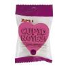 """APLI """"Cupid notes"""" 200 lapos szív formájú öntapadó jegyzettömb"""