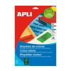 APLI Etikett, 105x148 mm, színes, APLI, sárga, 80 etik