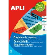 APLI Etikett, 105x37 mm, színes, APLI, kék, 320 etikett/csomag etikett