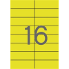 APLI Etikett, 105x37 mm, színes, , sárga, 320 etikett/csomag