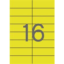 APLI Etikett, 105x37 mm, színes, , sárga, 320 etikett/csomag etikett