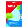 APLI Etikett, 10 mm kör, kézzel írható, színes, APLI, sárga, 1008 etikett/csomag (LCA2730)